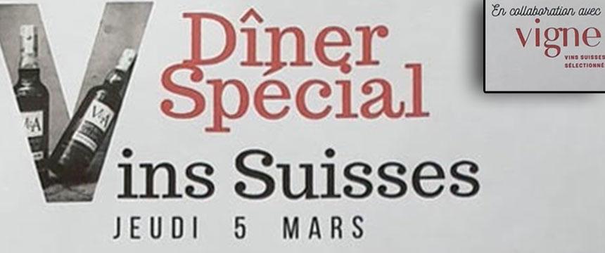 Diner Spécial Vins Suisse